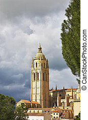 Tower a cathedral in Segovia