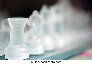 Tower. - A selective focus on a chess piece, the tower.