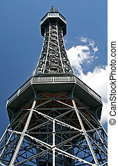 Tower - A steel tower with sky as background