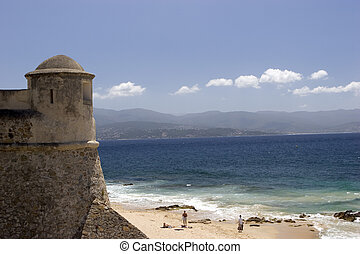 tower and beach