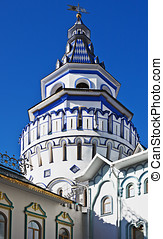 Tower and the Izmailovo Kremlin in Moscow