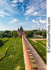 tower and wall of the Kremlin