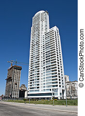 Tower apartments in the city of Rosario, Argentina.