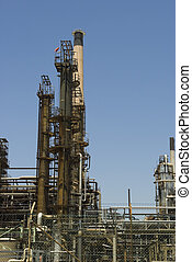 Tower at an oil refinery