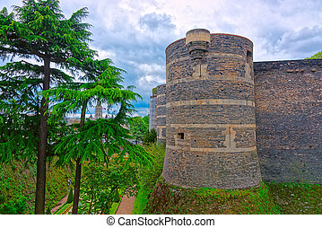 Tower at Chateau Angers Castle