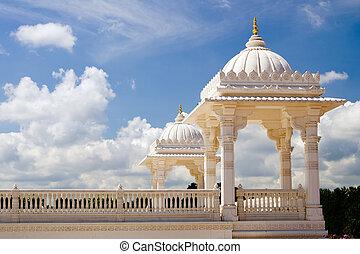 Tower at Hindu temple in Atlanta - Tower at Hindu temple, ...