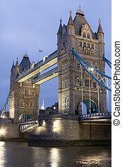 Tower Bridge at night, London, UK