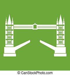 Tower bridge icon green