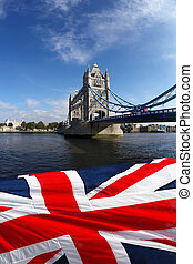 Tower Bridge in London, England - London Tower Bridge with...
