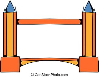 Tower Bridge in London icon cartoon