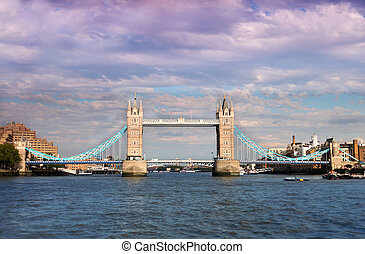 Tower Bridge in London. Tower Bridge is one of most...