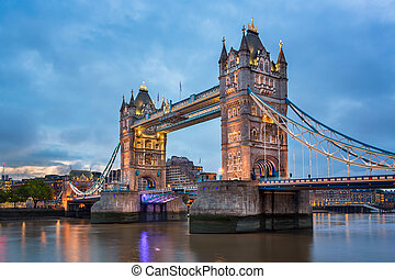 Tower Bridge in the Morning, London, United Kingdom