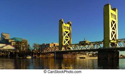 Tower Bridge over Sacramento River, Sacramento, California