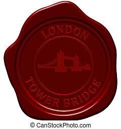 tower bridge seaaling wax - Tower Bridge. Sealing wax stamp...