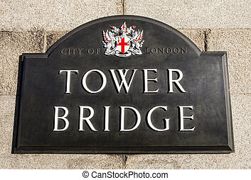 Tower Bridge Sign
