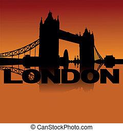 Tower Bridge skyline at sunset
