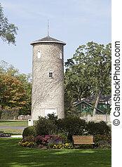 Tower by Ellwood House in Dekalb