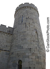 Tower castle isolated