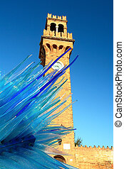 Tower Clock at San Stefano square, Murano, Venice