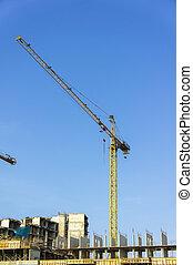 tower crane on contruction site