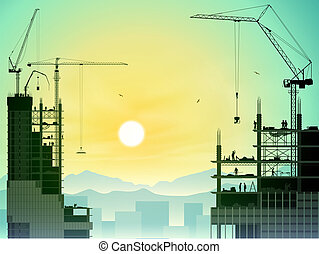 Tower Cranes - A Construction Site with Lots of Tower Cranes...