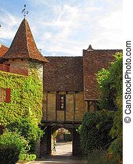 Tower, door, Village Loubressac