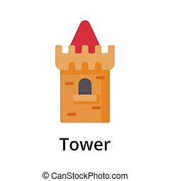 Tower flat vector illustration. Single object. Icon for ...