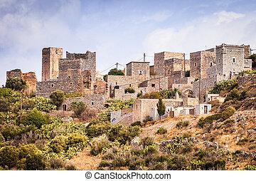 Tower houses in Vathia Greece Mani Peninsula - Greece ...