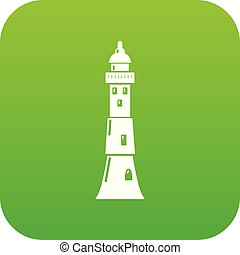 Tower icon green vector