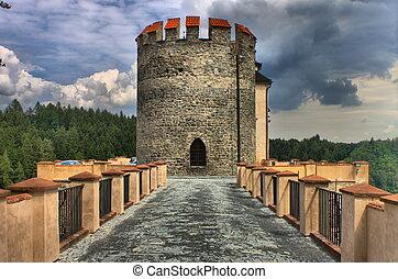 Tower in Cesky Sternberk castle