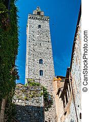 Tower in San Gimignano, Toscana landmark