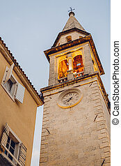 tower in the old town of Budva
