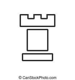 Tower line icon on a white background
