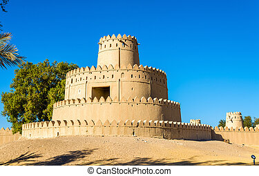Tower of Al Jahili Fort in Al Ain, UAE
