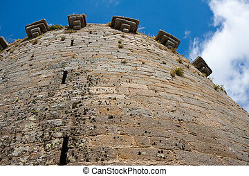 Tower of an old medieval castle in France