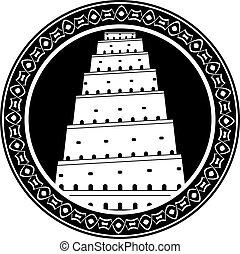 tower of babel. second variant. raster variant