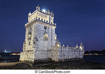Tower of Belem by night