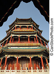 Tower of Buddhist Incense at Summer Palace in Beijing, UNESCO cu