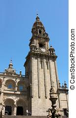 Tower of Cathedral - Santiago de Compostela, Spain