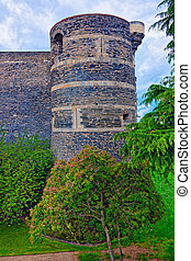 Tower of Chateau Angers Castle