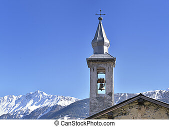 tower of church in mountain