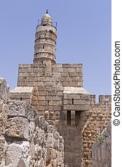 Tower of David and Sky