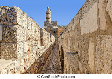 Tower of David in Jerusale, Israel.