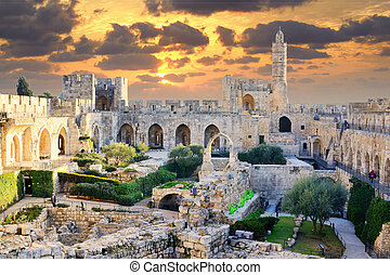 Tower of David in Jerusalem, Israel.