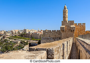 Tower of David in Jerusalem, Israel. - Tower of David and...
