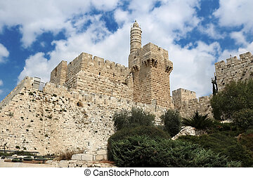 Tower of David in the old city of Jerusalem, Israel