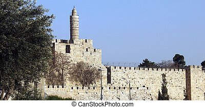 Tower of David. The Old City in Jerusalem, Israel.