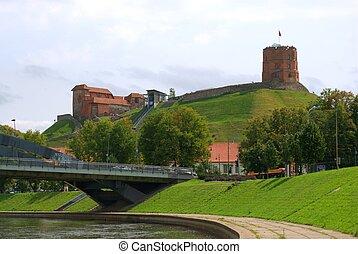 Tower of Gediminas, symbol of Vilnius. Summer. Lithuania.