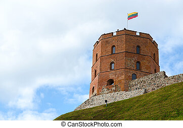 Tower of Gediminas, Vilnius, Lithuania - Gediminas Tower on ...