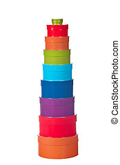 Tower of gift boxes